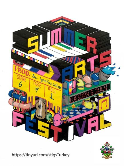 Summer arts festival poster 2021 with link